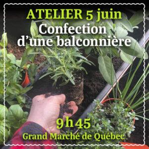 Atelier Confection balconnière fines herbes
